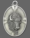 Bison Pewter Necklace